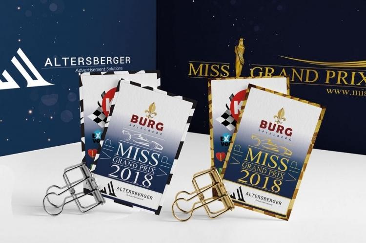 VIP Eintrittskarten Metall Miss Grand Prix